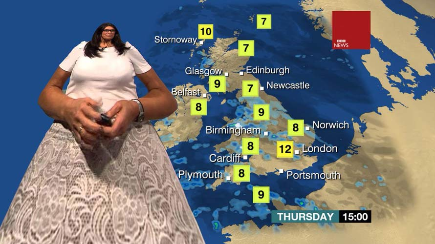 BBC Weather map   their distorted view of Scotland Inform Scotland BBC weather map