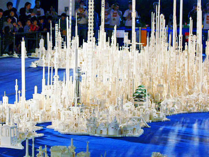 Kids Build Epic Model of Japan from 1 8 Million LEGO Bricks     Architecture