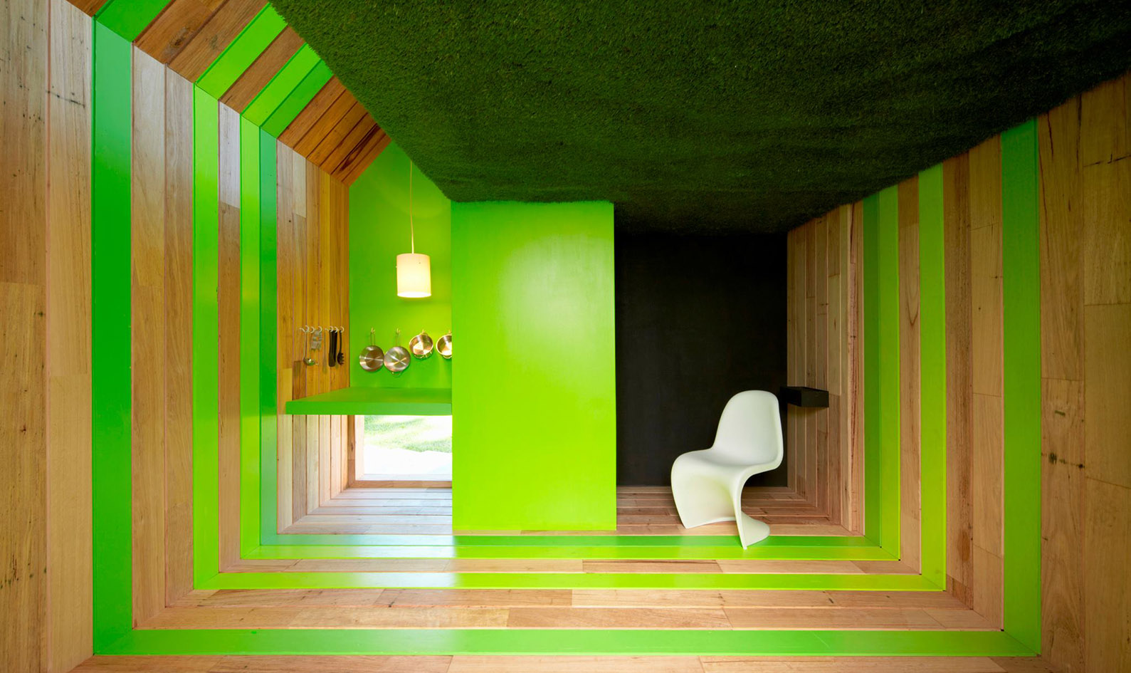 Design For Kids   Inhabitat   Green Design  Innovation  Architecture     Morphing cubby house gives kids control of play space