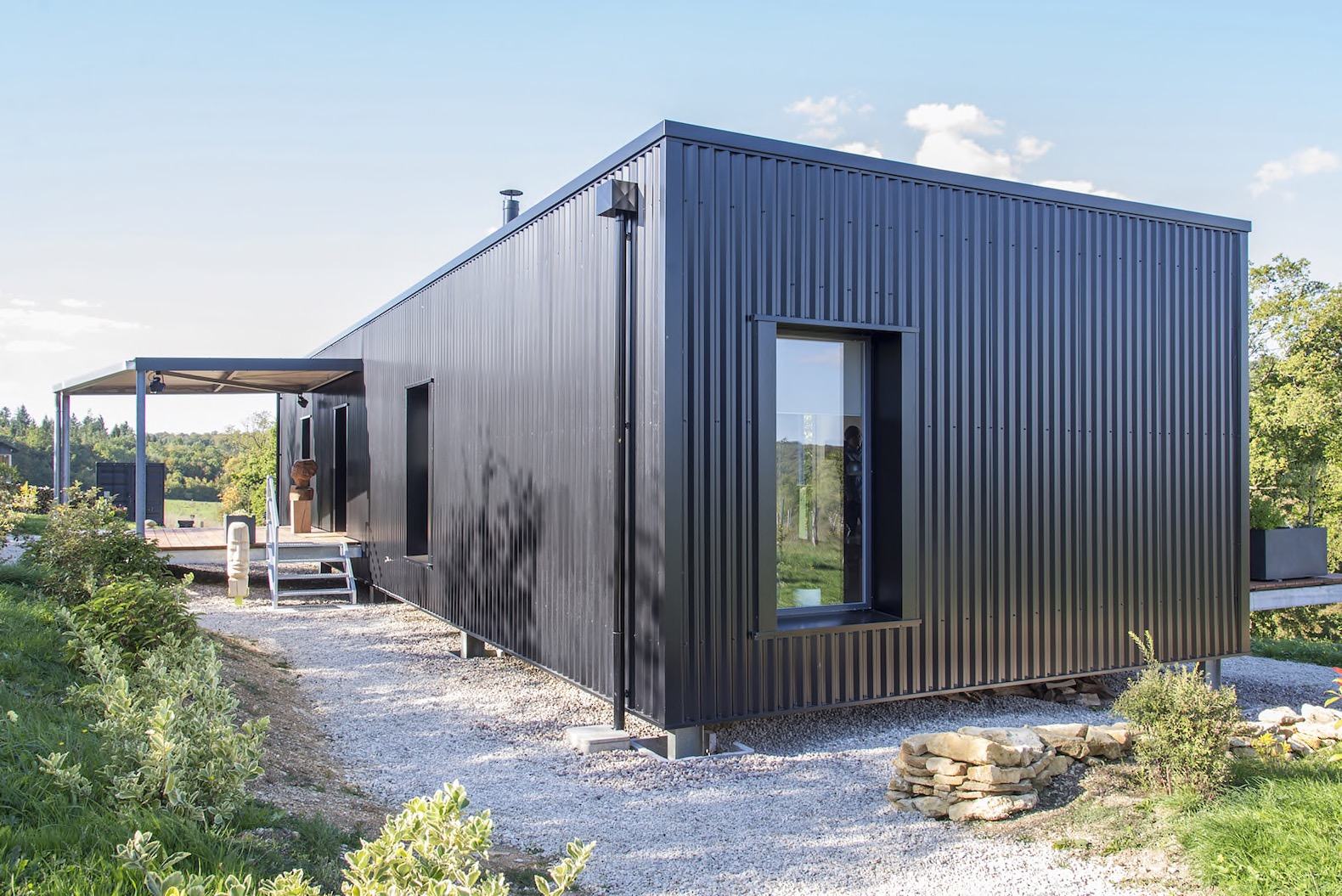 Best Kitchen Gallery: Light Filled Shipping Container Home Is An Artistic Triumph In The of Shipping Container Living Quarters on rachelxblog.com