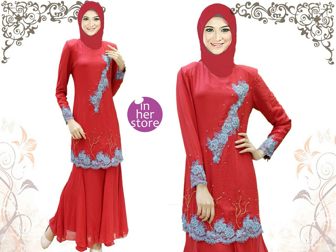 Katalog February  Baju Kurung Malaysia By Inherstore Warrohmah Series Inherstore