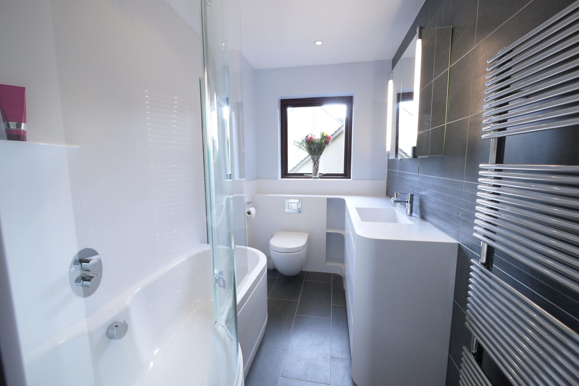 Narrow Bathroom Refit Kitchen And Bathroom Designer In