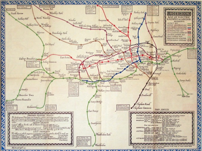 Marvellous Maps 3  London Underground     The Museum of Thin Objects 1920map3