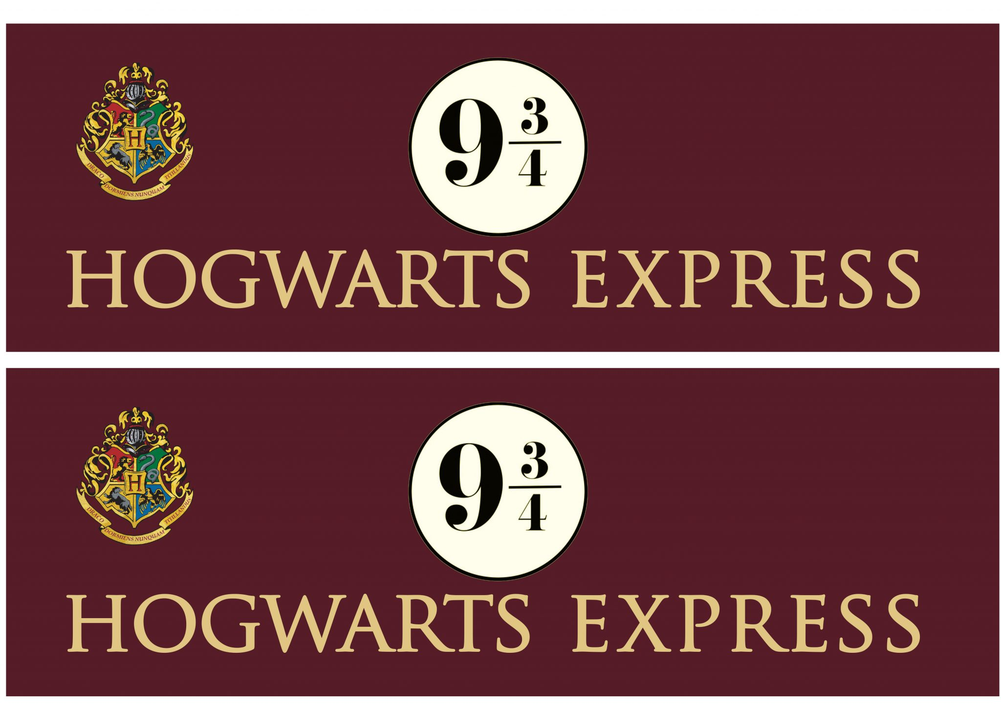 How To   Hogwarts Express and 9 3/4 signage   In Literature
