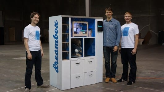 First Dreambox 3D printer vending machine heads to UC Berkeley