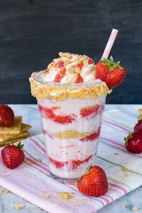 Strawberry Cheesecake Milkshakes Inside Brucrew Life