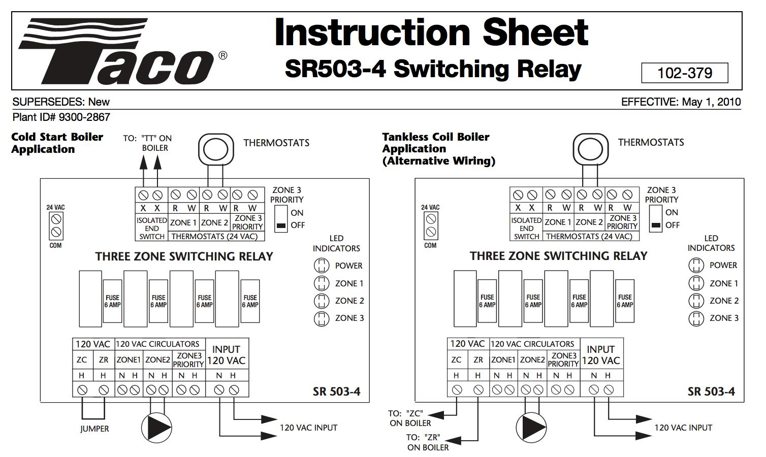 Taco Sr502 Wiring Diagram Browse Data Wiring Diagram Panasonic Wiring  Diagrams Taco Sr502 Wiring Diagram 4