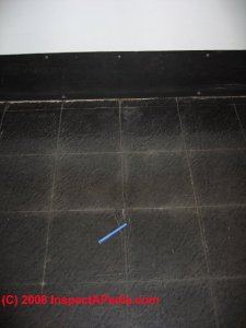 Asbestos Content in Floor Tile Mastics  Cutback Adhesive  or Roofing     Black tile flooring  maybe not asphalt based