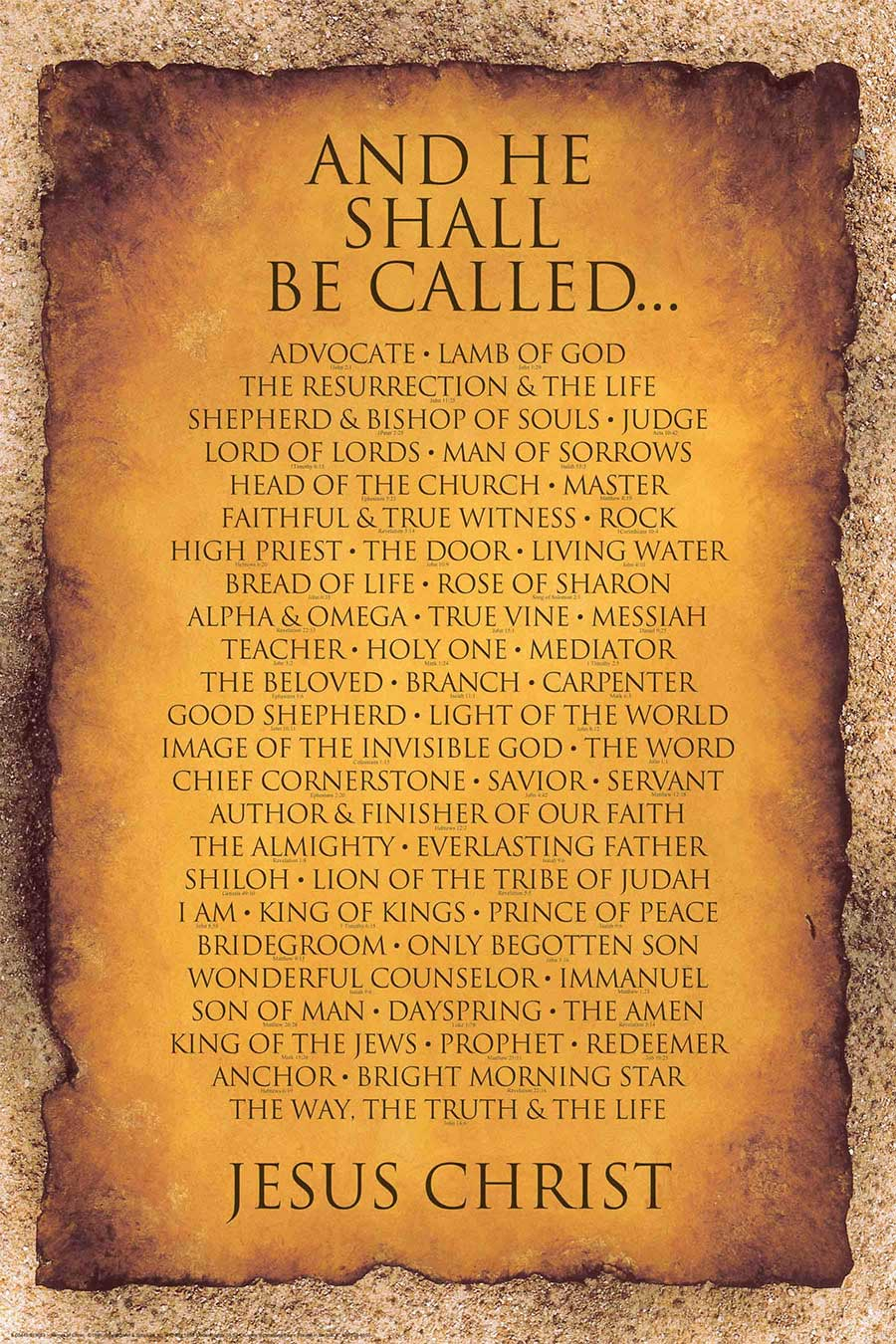 Names of Christ 24x36 - Inspiration Art