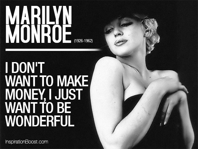 Marilyn Monroe Wonderful Quotes   Inspiration Boost Marilyn Monroe Wonderful Quotes