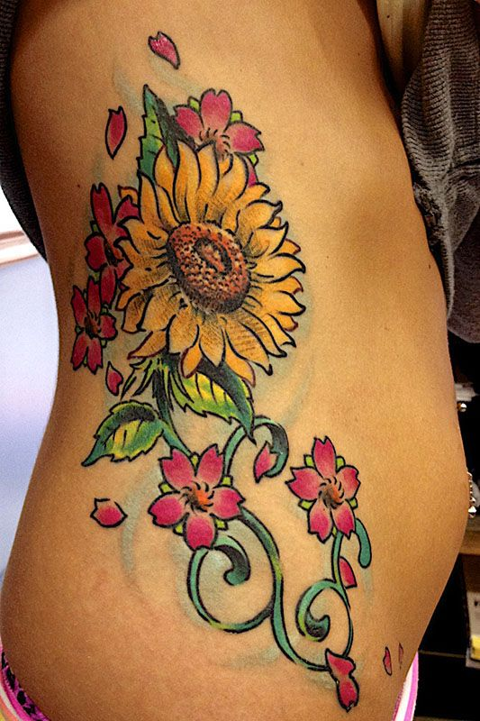 40+ Sunflower Tattoo Designs Ideas and Meaning ...