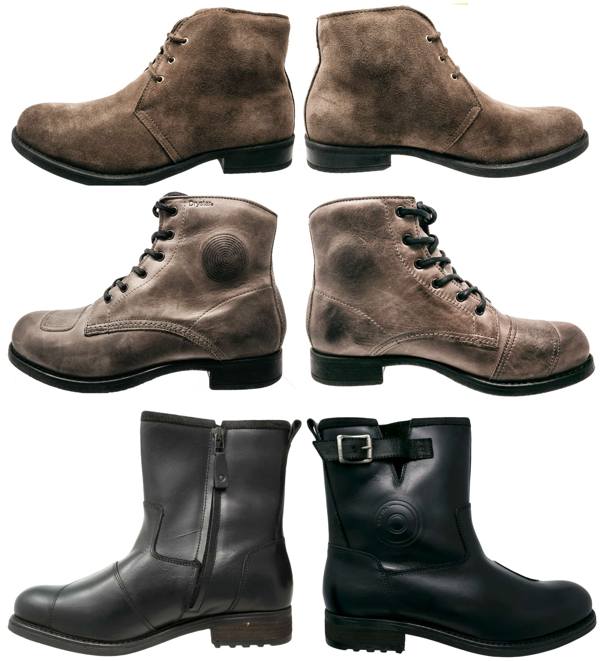 City type casual motorcycle boots