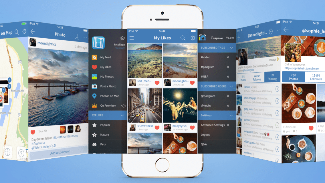 Padgram, One of our Fav Instagram Viewer is Now Available for iPhone | Instagramers.com