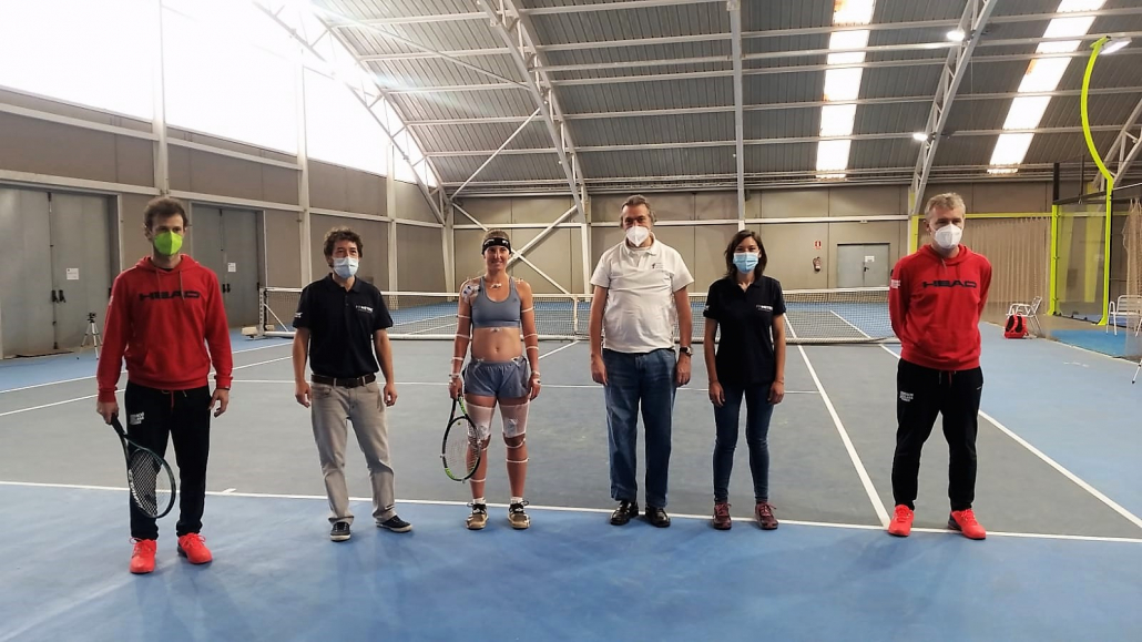 THE INSTITUT CATALÀ DEL PEU CONDUCTS A BIOMECHANICAL ANALYSIS TO THE TENNIS PLAYER MARINA BASSOLS.