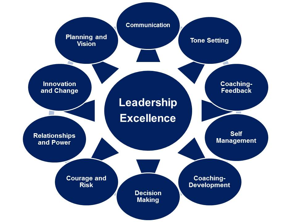 Infographic on Leadership excellence