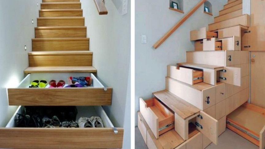 9 Super Space Saving Stair Designs To Make Your Staircase A Thing   Stairs For Homes Designs   Tv Lounge   Fabrication   Creative   Small House   Residential