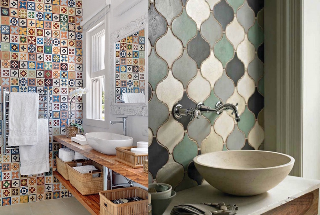 25 Impressive Multi Colored Tile Bathroom Design Ideas