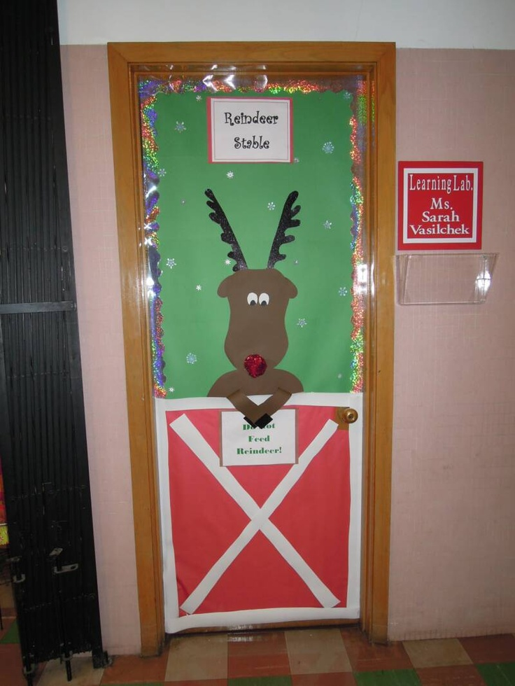 Apartment Door Decorating Ideas Christmas