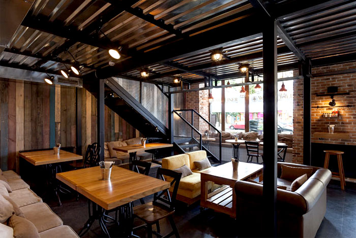 True Burger Restaurant By Kley Design Studio Interiorzine