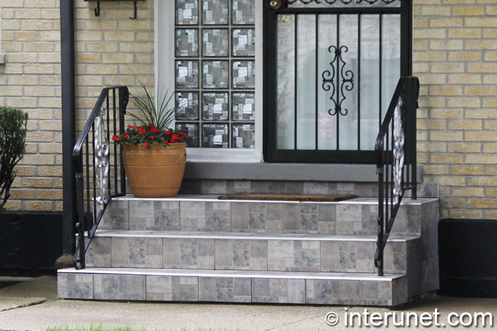 Stacked Stone Front Porch