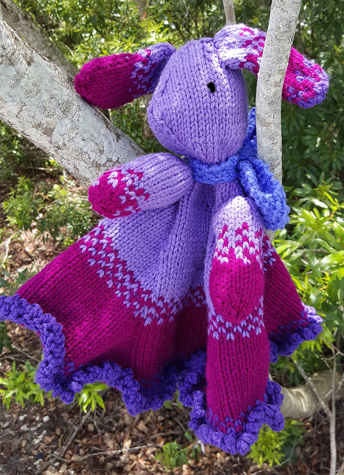 Knit Bunny Security Blanket Pattern