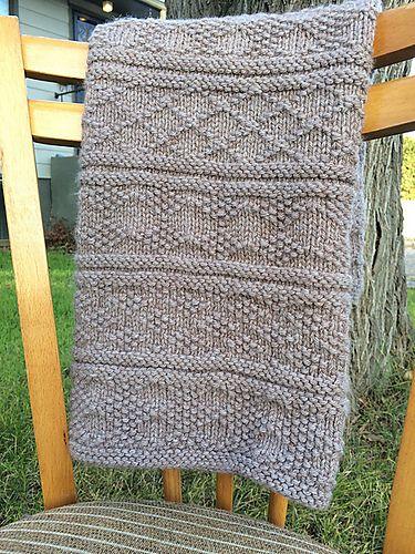 Knit Sampler Afghan Pattern