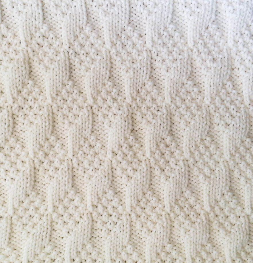 Diagonal Knit Baby Blanket Pattern