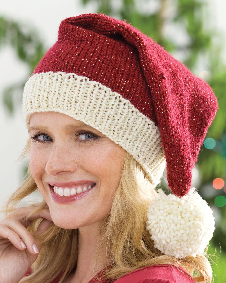 Santa Claus Hat Knit Pattern