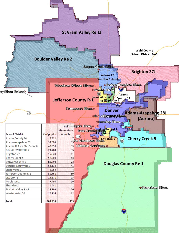 Brighton Colorado School District Map