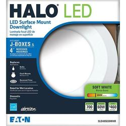 Halo Sld405830whr 4 In Matte White Recessed Led 3000k Surface Disk Light Check Back Soon Blinq