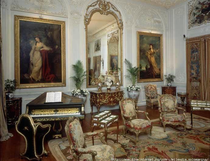 Decoratie van het Rothschild-paleis in Frankrijk