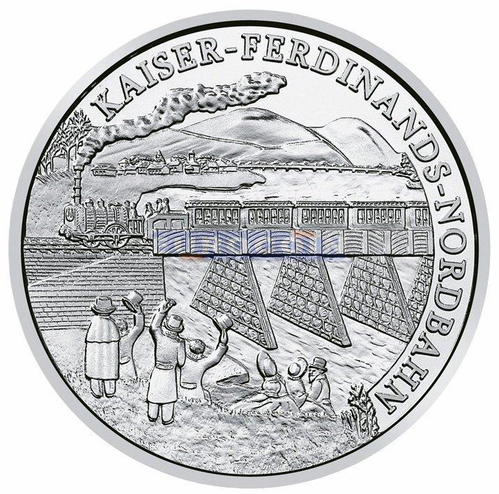 De munt verscheen aan de constructie van de Northern Road Emperor Ferdinand