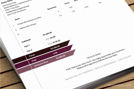 HTML Invoice Template   Morry     HTML Invoice Template Morry 3