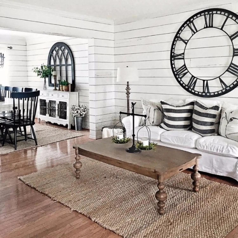 Dark Wood Floors Country Living Rooms