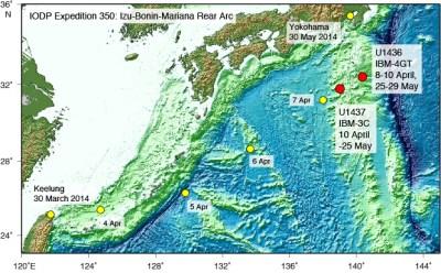 IODP JRSO • Expeditions • Izu-Bonin-Mariana Rear Arc