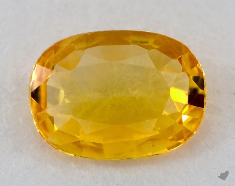Gemstones Yellow Sapphire 0 71 Carat Oval Sku 20845