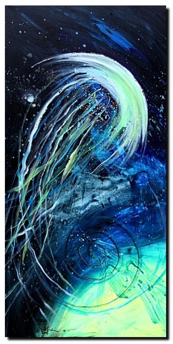 Paintings Teal Abstract