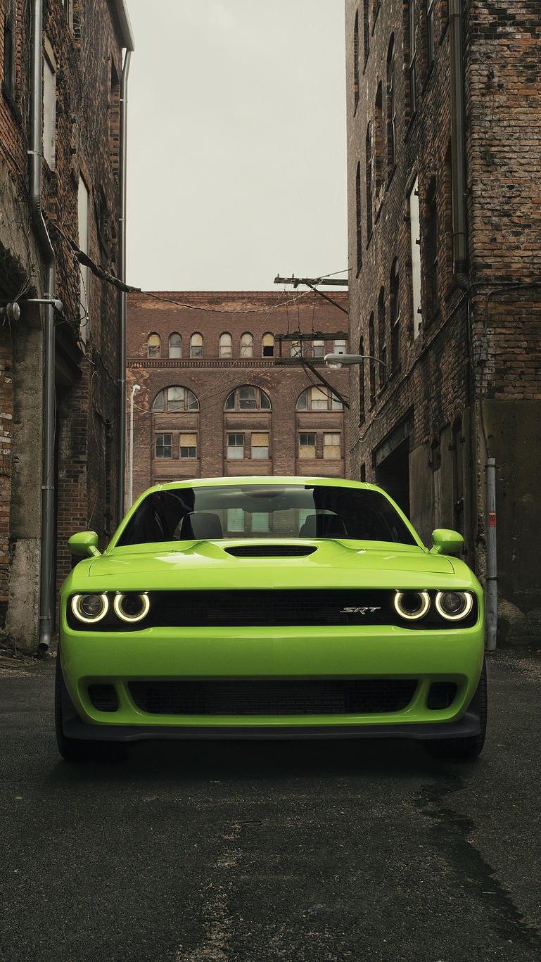 Dodge Challenger Srt Hellcat Iphone Wallpaper Iphone