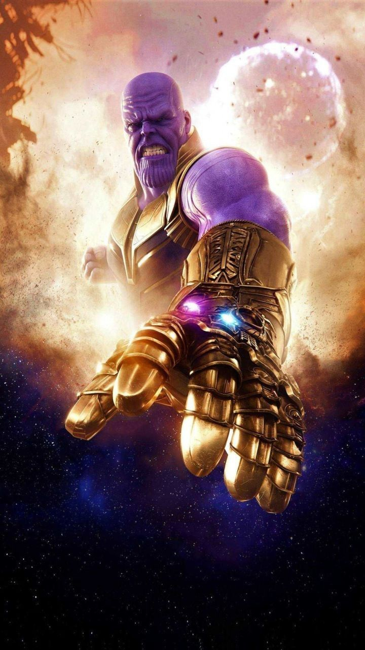 Thanos With The Infinity Gauntlet Iphone Wallpaper