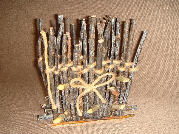 From wooden sticks 5