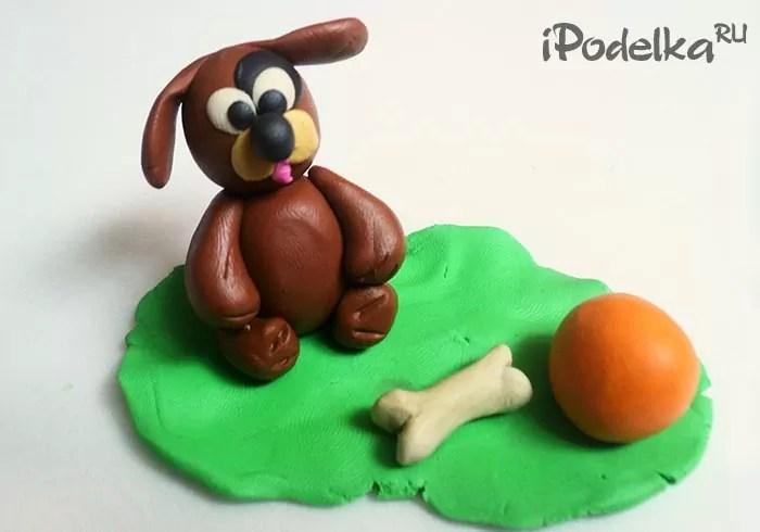 Chó plasticine vui nhộn