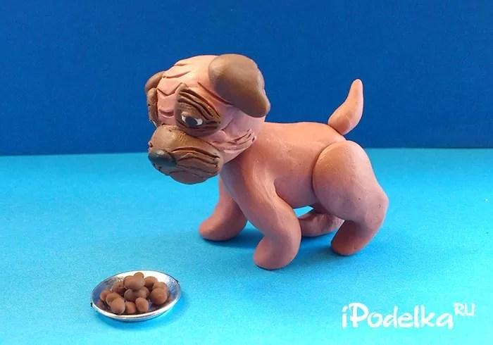 Pug từ plasticine cách thực hiện