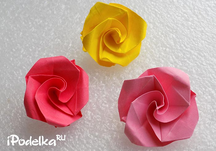 Origami Rose Step-by-Step Schema