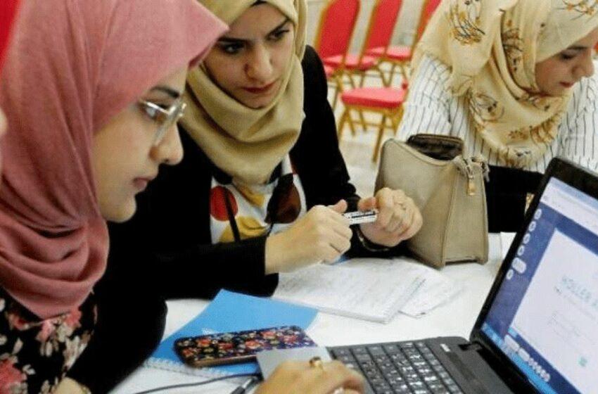 Women working on computers