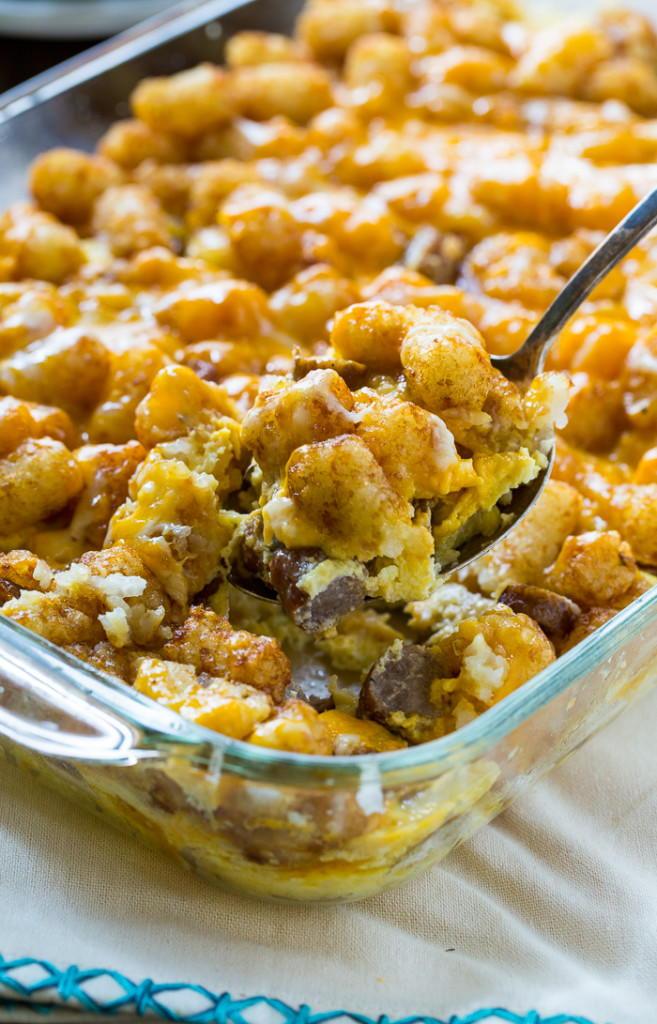 Southern Tater Tot Breakfast Casserole
