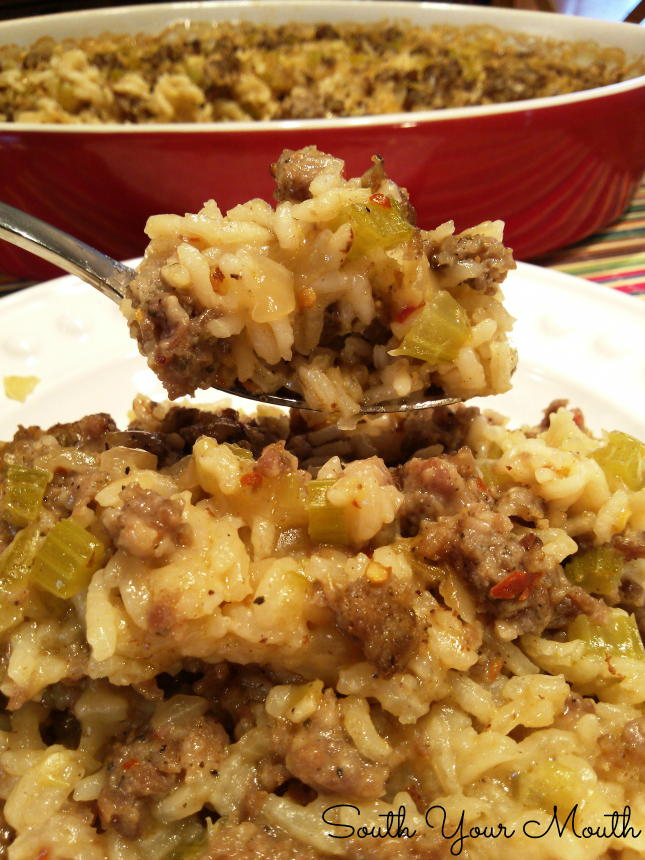 Paula Deen Style Sausage And Rice Casserole