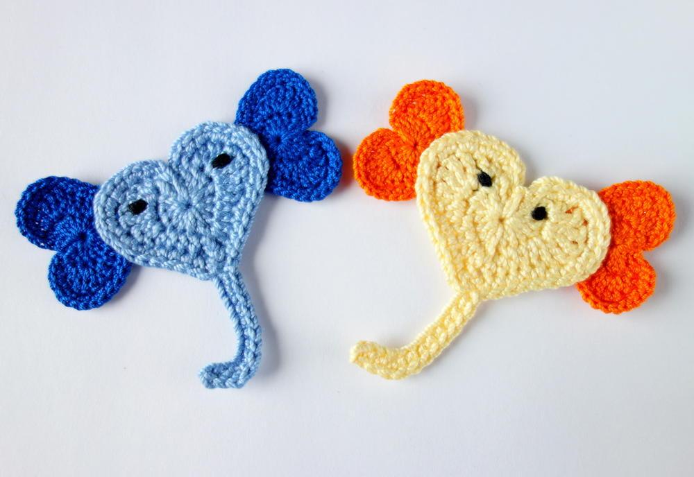 Elephant Crochet Applique Pattern Free