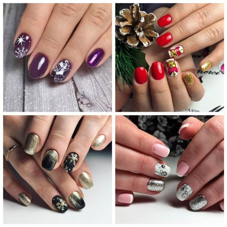 What to do a manicure for the new year 2021 - more than 100 photos with the ideas of beautiful designs