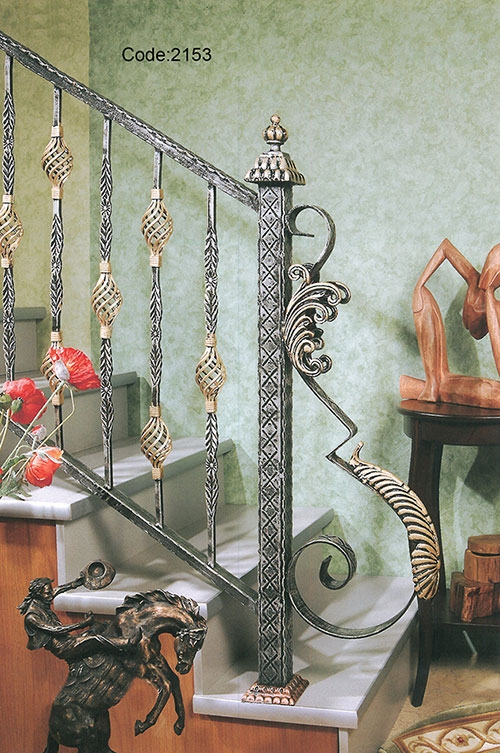 Stair Rail Models – Wrought Iron Manufacturer | Decorative Wrought Iron Handrail | Forged Iron | Interior | Classic | Ornamental | Steel