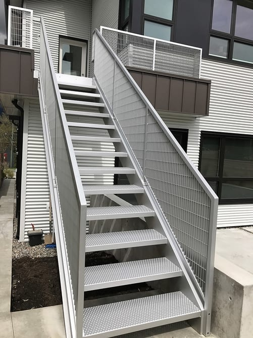 Metal Fabrication Design Installation In Vancouver   Outdoor Steel Staircase Design   Wrought Iron   Light   Stainless Steel   Industrial   Wood